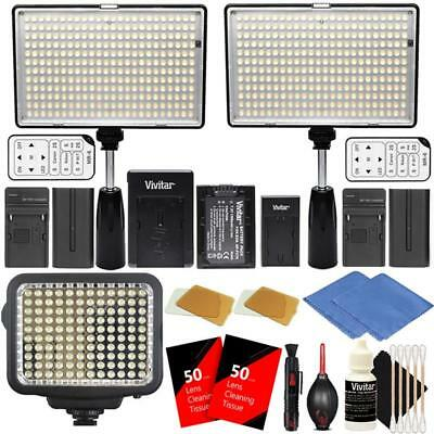 LED Video Lights 2X 288 and 120 LED Light Panels for Studio, YouTube and Video