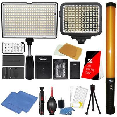 Dimmable LED Studio and Video Shooting Light Panel Set for Product Photography