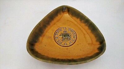 Bermuda Pottery Trinket Dish With A Pig / Hog Sommer Ilands - Threepence