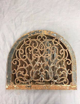 Antique Cast Iron Arch Top Heat Grate Wall Register Victorian Vtg 13X11 37-17B
