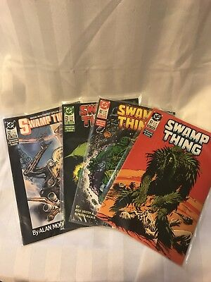 SWAMP THING #60, 61, 62, 63 DC Alan Moore Lot of 4 1987