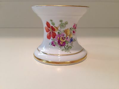 Hochst Hand-Painted Porcelain Floral Candlestick #1 Made in Germany New