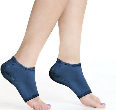 Plantar Fasciitis Wrap Arch Support Gel Insoles Ankle Foot Pain Relief Sleeves L