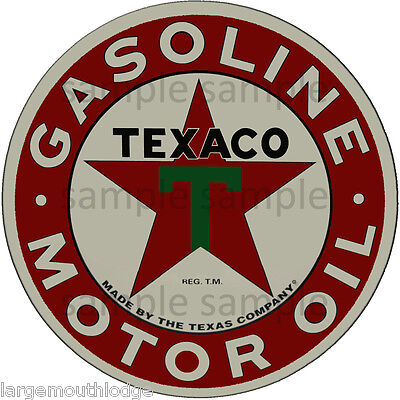 3 Inch Texaco Motor Oil Gasoline Waterslide Decal Sticker