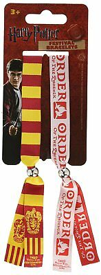 Harry Potter Gryffindor Double Festival Wristband Set