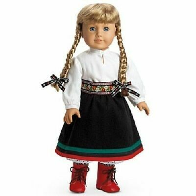 """NIB American Girl KIRSTEN""""S HOLIDAY WINTER OUTFIT & RED BOOTS Doll not included"""
