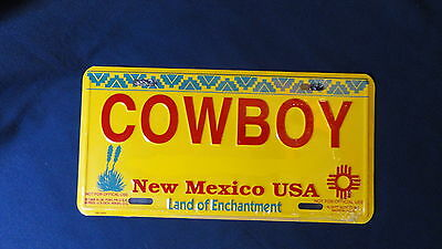 Collection décoration (neuf sous blister) réédtion PLAQUE COW BOY NEW MEXICO USA