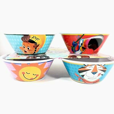 4 KELLOGG'S CEREAL BOWLS 2006-100 Year Anniversary Toucan Sam 2014 Assorted