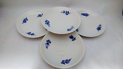 Set of 4 Royal Copenhagen Blue Flowers 10 8261 Teacup Saucers ONLY - NO CUPS