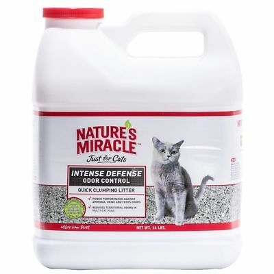 Nature's Miracle Intense Defense Odor Control  Clumping Cat Litter in 3 sizes