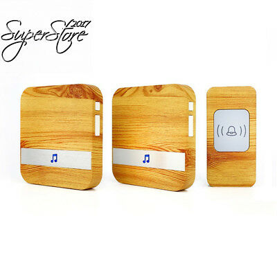 Four Horse Wood Grain Wireless Doorbell with 2 Receiver Plugin and 1 Remote...