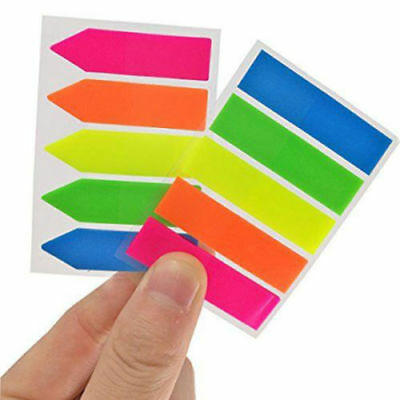 3200pcs Neon Sticky Post It Arrow Flags Bookmark Value Pack Sign Here Set of 10