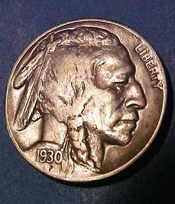 1930-S Buffalo Nickel ~Nice Sharp Circulated ~Lead Putty Color ☆☆Make An Offer☆☆