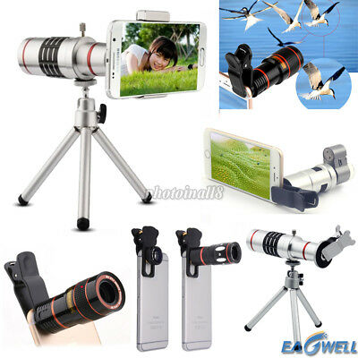 For iPhone Samsung 8X 10X 12X 18X Zoom HD Camera Lens Telescope/ Microscope 200X