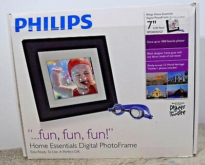 "Philips 7"" LCD Panel Excellent Condition Digital Photo Frame 128MB in orig box"