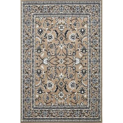 Beige Black Cream Floor Rug Large Traditional Mat Carpet FREE DELIVERY
