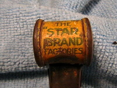 Vintage Star Brand Shoe Advertising Metal Toy Whistle