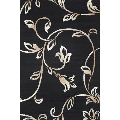 Black,beige, Cream Floor Rug Large modern floral Mat Carpet FREE DELIVERY