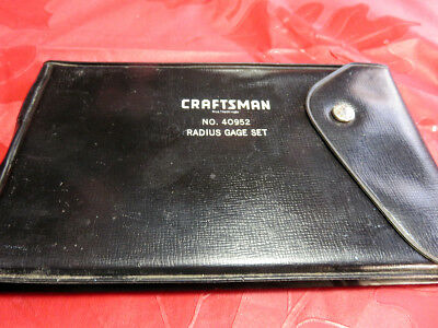 Craftsman Radius Gauge Set No. 40952 COMPLETE Excellent Condition