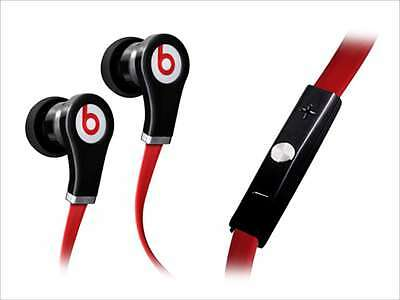 Beats by Dr. Dre Tour In-Ear Earbuds Headphones with Remote & Mic - Black / Red