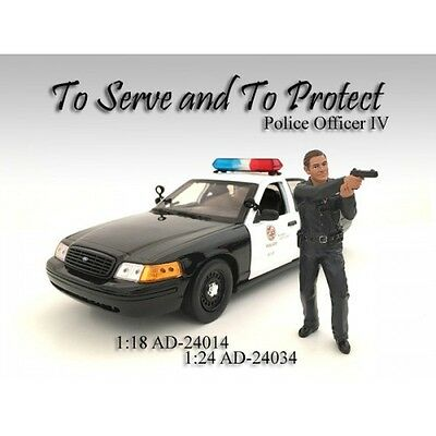 1/24 FIGURINE/Figure-POLICE OFFICER IV(4) for your shop/garage-AMERICAN DIORAMA