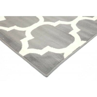 grey Cream, Moroccan Floor Rug Large modern lines Mat Carpet FREE DELIVERY