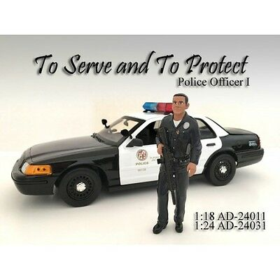1/24 FIGURINE/Figure- POLICE OFFICER I (1) for your shop/garage-AMERICAN DIORAMA