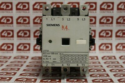 Siemens 3TF51 Contactor 110V Coil - Used