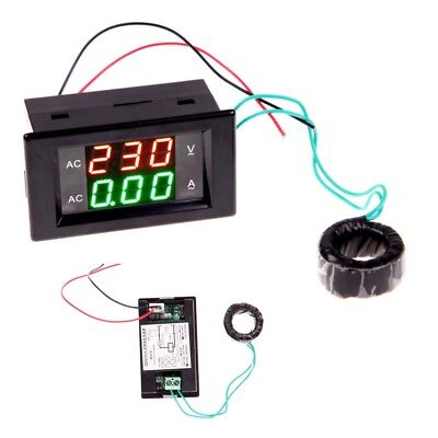 Digital Ammeter Voltmeter LCD Panel Amp Volt Meter Gauge AC 100A 80-300V UK