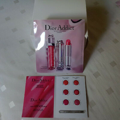 Dior Addict New Ultra Gloss & Lipstick Sample Palette with Brush **Free P&P**
