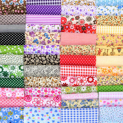 50x Various Patchwork Squares Fabric Charm Packs Quilting Machine Cut Crafts DIY