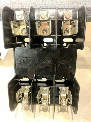Lot of 6 Gould Shawmut 60303 Fuse Blocks / Holders - 600 Volt, 30 Amp, 3 Phase