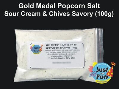 Gold Medal Sour Cream & Chives Popcorn Salt for Popcorn Machines (100g)