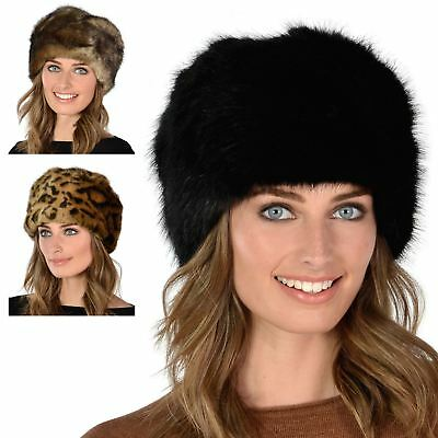 New Ladies Super Soft Stylish Faux Fur Russian Womens Warm Winter Cossack Hat