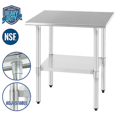 """24""""x30"""" Commercial Stainless Steel Food Prep Work Table Kitchen Restaurant NSF"""