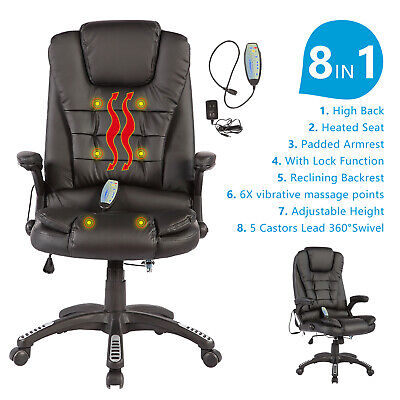 Rocker Blue Office Gaming Chair Racing Seats Computer Chair Executive w/Footrest