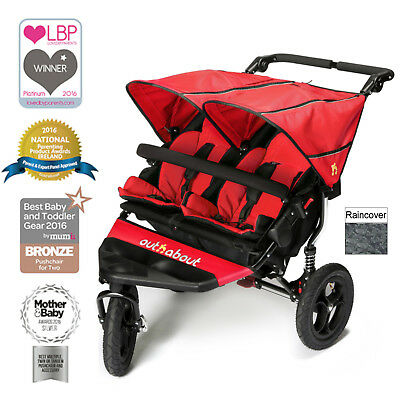 New Out N About Carnival Red Nipper Double From Birth Lightweight Baby Pushchair