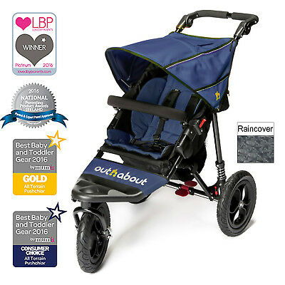 New Out N About Royal Navy Nipper Single From Birth Lightweight Baby Pushchair