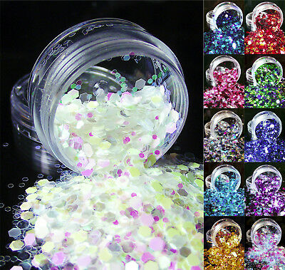 Chunky Mixed Glitter Pot For Body Tattoo Festivals Party Nails Face Eyes Makeup