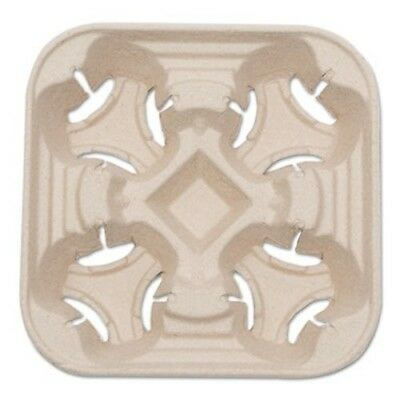 Naturehouse Heavyweight 4-Cup Carry Tray, 6 x 2 x 6, Natural, 75/Pack (SVACT01)