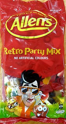 NEW Allen's Retro Party Mix - 1kg Party Supplies Occasion Birthday Christmas