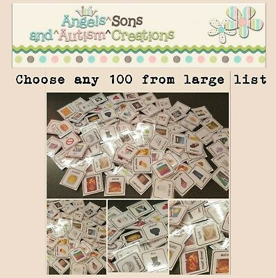 You Choose 100 Visual Cards / Pecs With Smooth / Loop - Autism / Non Verbal