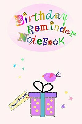 Bithday Reminder Notebook: Month by month d by Birthday Books New Paperback Book