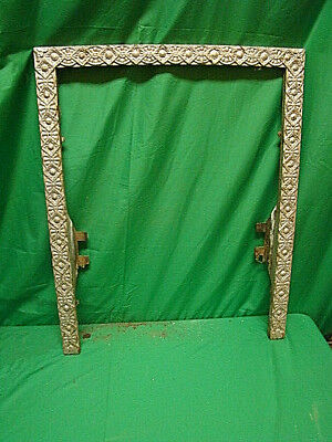 Antique Late 1800's Cast Iron Ornate Fireplace Insert Cover Frame...unique