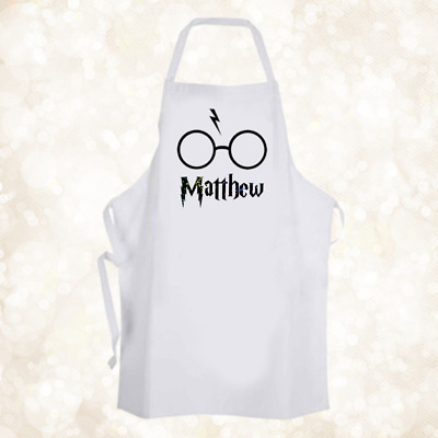 Personalised Harry Potter Glasses Chef Baking Cooking Apron Unique Birthday Gift