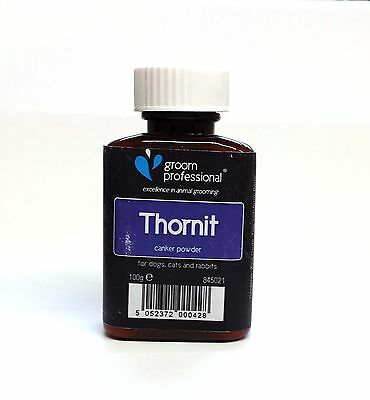 GROOM PROFESSIONAL THORNIT CANKER POWDER  for dog cats and small animals. 100gr