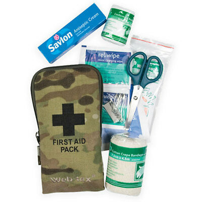 Web-Tex Small Military Army Camping Car Travel Hiking Medic First Aid Kit MTP