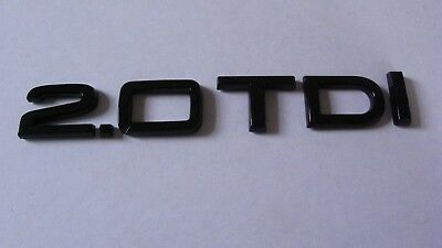 Black 2.0 TDI Badge AUDI A1 A3 A4 A5 A6 A7 S LINE BLACK EDITION