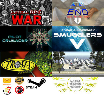 Store Manager+The Troma Project+Smugglers 5+Pilot Crusader+After Th PC STEAM KEY