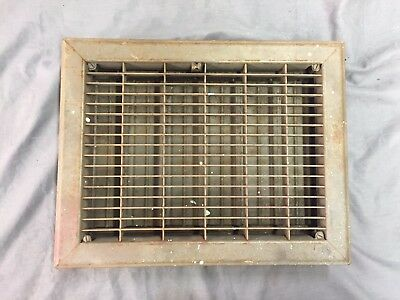 Mid-Century Stamp Steel Metal Heat Grate Floor Vent Register Old 12x9 49-17B